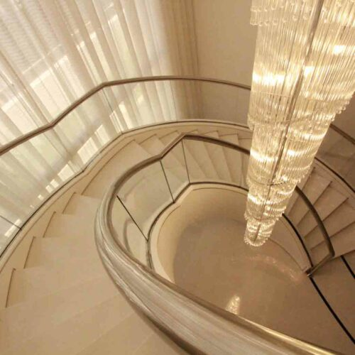 curved glass stairs and balustrade +