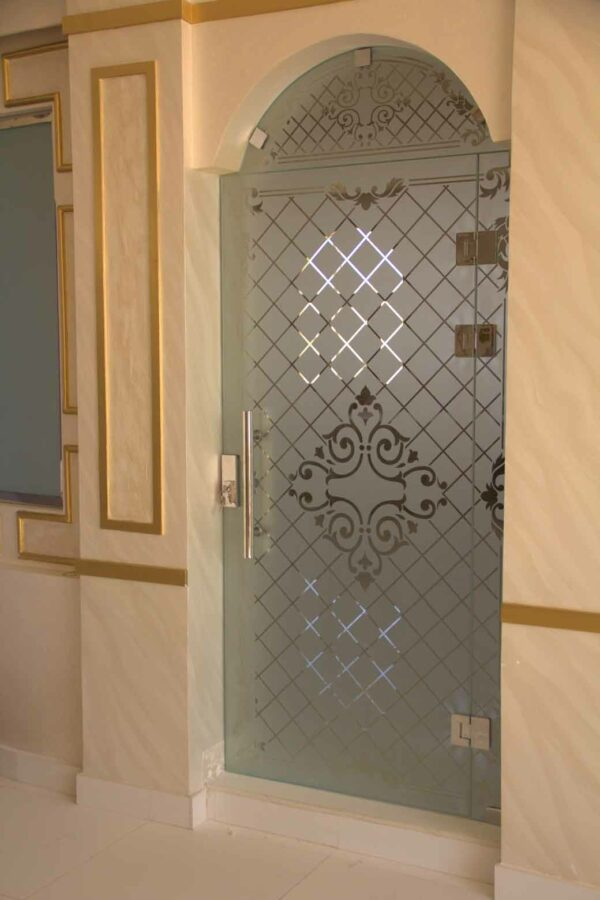 etched door