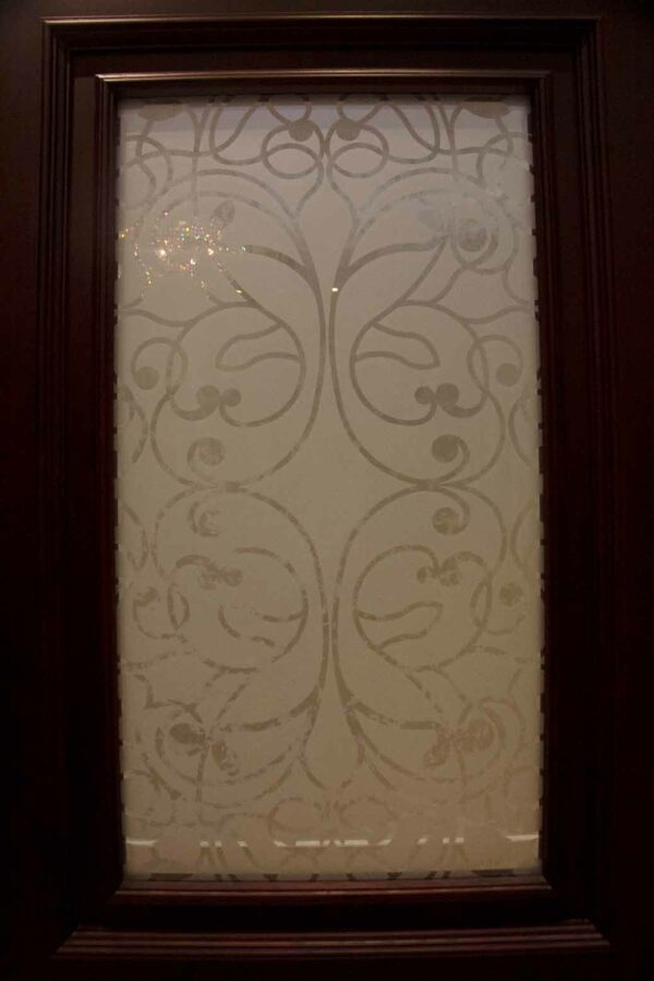 fixed etched glass
