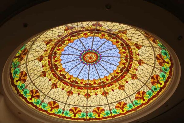 stained glass roof and skylight